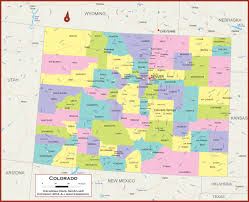 Arizona State Map With Cities by Colorado Wall Map Political