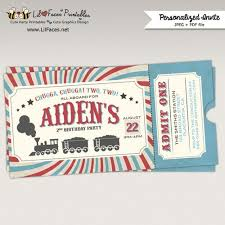 party invitations remarkable train party invitations designs