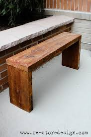 Outdoor Wood Bench Diy by Do Outdoor Yourself Wood Projects Reclaimed Wood Bench Do It
