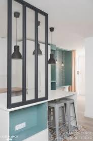 cuisine ouverte sur s our croquis cuisine ouverte avec verrière et suspension métal croquis