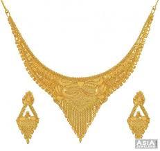 gold sets design gold necklace set indian design ajns53645 22kt gold necklace