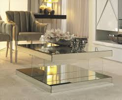 furniture mirrored coffee table unique suitable for modern homes