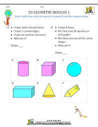Free Printable Shapes Worksheets 3d Shapes Worksheets 2nd Grade