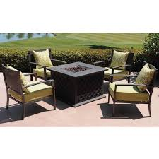 Fire Pit Outdoor Furniture by Stefanos Firepit Set By Leisure Select