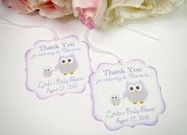 owl baby shower favor tags purple baby shower tags baby