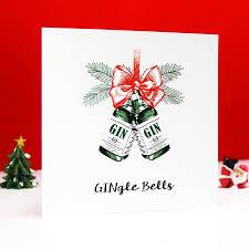 gingle bells u0027 gin christmas card by of life u0026 lemons