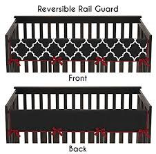 black and red crib bedding
