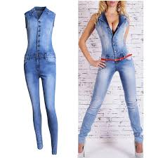 sleeveless denim jumpsuit cwlsp denim rompers jumpsuits bodycon washed white