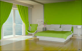 bright white meets vivacious green in modern bedroom completed