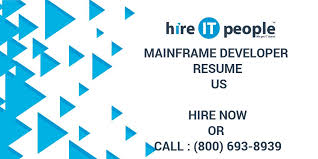 Mainframe Developer Resume Examples by Mainframe Developer Resume Us Hire It People We Get It Done