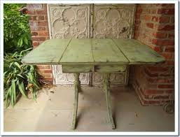 Vintage Drop Leaf Table Vintage Drop Leaf Table Painted Peppercorn And Green