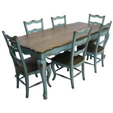 blue painted dining table rustic farm table and chairs french rustic country dining table