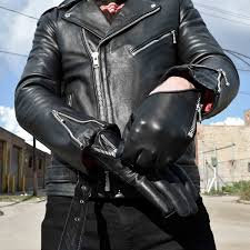 leather apparel throttle leather gloves straight to hell apparel