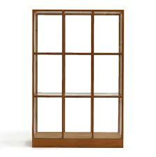 3 door display cabinet oak display cabinet 3 column piet hein eek the future perfect