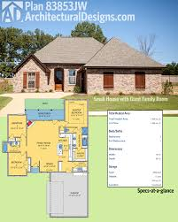 House Plans Acadian by Plan 83853jw Small House With Giant Family Room Acadian House