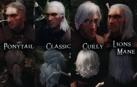 witcher 2 hairstyles geralt of rivia voiced follower the witcher at skyrim nexus mods