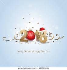 happy new year 2018 merry stock vector 585895094
