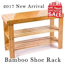 Shoerack Bench Qoo10 Shoe Rack Bamboo Shoe Bench Shoes Cabinet Storage Shoe