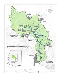 Highly Detailed River Map Of by Welcome To The Verde River Basin Partnership Verde River Basin