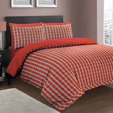 Tartan Flannelette Duvet Cover Plain Dyed Poly Cotton Fitted Valance Sheet Frilled Bedding Nimsay