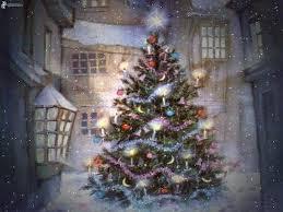 thomas kinkade christmas tree christmas lights decoration