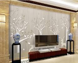 3d Wallpaper Home Decor Home Decoration Custom Photo Wallpaper Deer Woods Wallpapers For