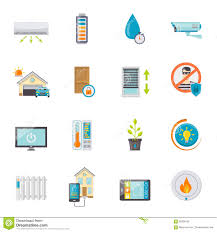 smart house flat icons set stock vector image 68306102