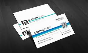 modern qr code corporate business card template free download