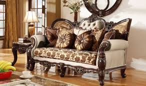 Traditional Livingroom 610 Catania Traditional Living Room Set In Dark Cherry By Meridian