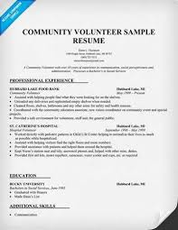 Sample Resume With Volunteer Experience by A Href U003d