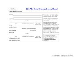 2012 honda pilot manual honda pilot 2012 2 g owners manual