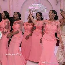 wedding dresses for of honor 2017 cheap coral bridesmaid dress wedding ceremony mermaid
