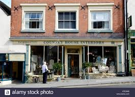 front facade of country house interiors shop in ludlow shropshire