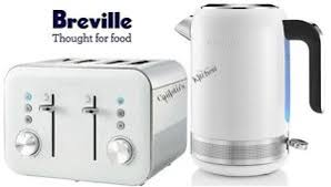4 Slice Toaster And Kettle Set Breville High Gloss Kettle And Toaster Set White Kettle U0026 4 Slice