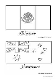 coloring country flags worksheet free esl printable worksheets