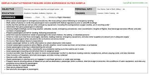 Resume For Flight Attendant Flight Attendant Job Title Docs