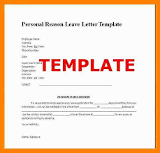 8 peraonal leave letter address example