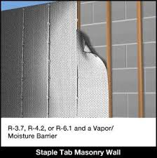 Insulating Basement Concrete Walls by Concrete Block Wall Insulation Staple Tab Reflective Bubble