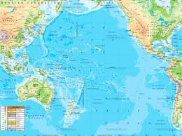 Map Of Pacific физическая карта тихого океана Physical Map Of Pacific Ocean