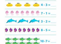preschool subtraction worksheets u0026 free printables education com
