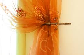 Sheer Curtains Orange Embroidered Organza Makes Wonderful Sheer Curtains For The Home