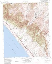 San Francisco Elevation Map Las Pulgas Canyon Topographic Map Ca Usgs Topo Quad 33117c4