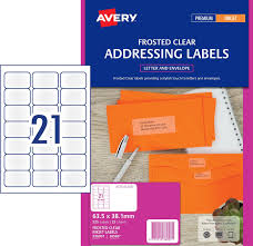 frosted clear address labels 936007 avery australia