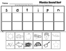 phonics sound sort by lisa sadler teachers pay teachers