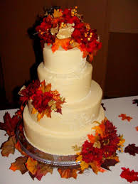 fall wedding cakes fall wedding cake cakecentral
