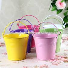 painted easter buckets wholesale easter gift small colored metal with