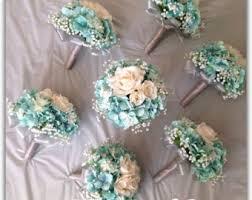 Tiffany Blue Flowers Tiffany Blue Bouquet Etsy