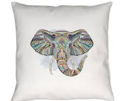 Elephant Home Decor Boho Chic Home Decor Purple Elephant Pillow Boho Chic Accent