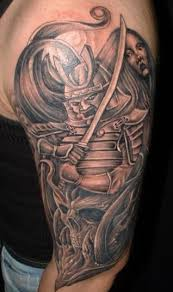 angry warrior on arm designs pictures