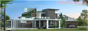 luxury house elevation with detached car garage kerala home design